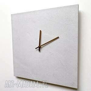 Zegar ścienny jasny beton zegary ovo design zegar-ścienny