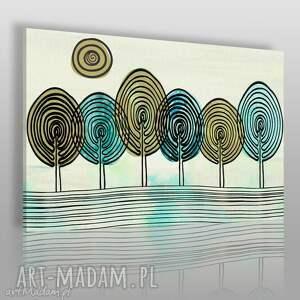 obrazy obraz na płótnie - abstrakcja drzewa 120x80 cm 38801 , drzewa, odciski