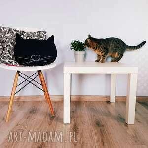 poduszka kocia główka - ,poduszka,kot,kocia,główka,haft,skandynawska,
