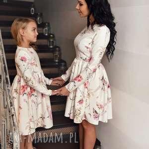 LATORI - Sukienka damska z kolekcji Mama i Córka dla mamy LM40/2 (Kwiaty)