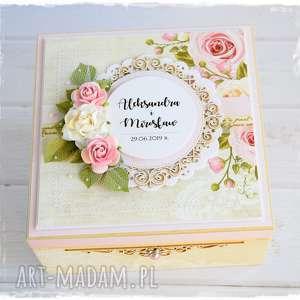 handmade scrapbooking kartki niezbędnik małżeński pudełko ślubne