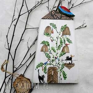 kamienica z ptaszkami i kotami - wieszak na klucze no 6