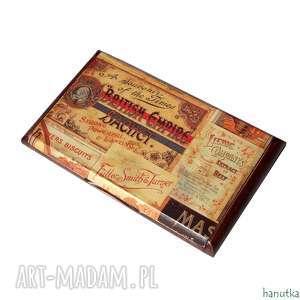vintage - wizytownik, etui na karty płatnicze, prezent, retro, stylowe