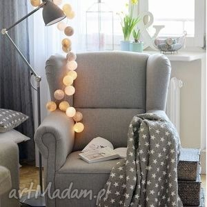 Cotton Ball Lights by Pretty Pleasure , prezent, urodziny, roczek, pokoik, dziecka