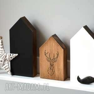 3 domki w stylu skandynawskim, domki, domek, dom, jeleń, skandynawski