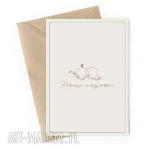 """Rozkładana kartka ślubna""""pięknego małżeństwa"""" kartki"""
