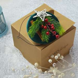 wyjątkowy prezent, toczek świąteczny, fascynator, święta, aksamit