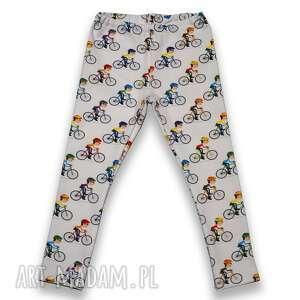 ręcznie robione rowery spodnie dla dziewczynki, bawełniane legginsy z dresówki, rozmiary