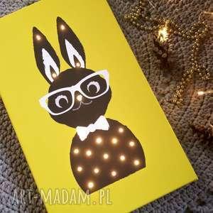 świecący obraz królik prezent lampa dziecko led dla chłopca dekoracja