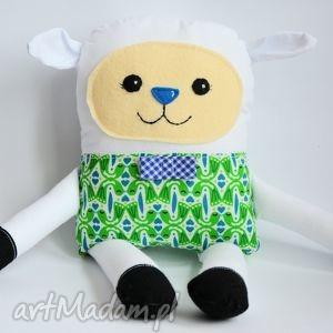 radosna owieczka - filip - 38 cm - owieczka, folk, zabawka, maskotka, chrzciny