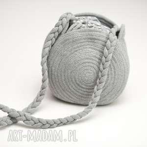 torebka okrągła, torebka, sznurek, bawełna