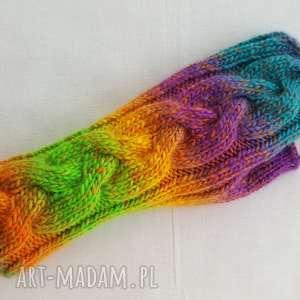Tęczowe słoneczne rękawiczki izabelaart1 ciepłe, modne