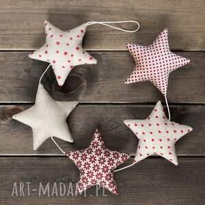 dekoracje gwiazdkowa beżowa girlanda, 5 gwiazd, gwiazdka, boże narodzenie