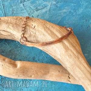 Bransoletka z kutej, oksydowanej miedzi 11 aleksandrab
