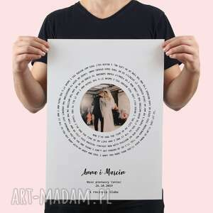 kreatywne wesele plakat z twoją piosenką - pierwszy taniec, ślub, rocznica