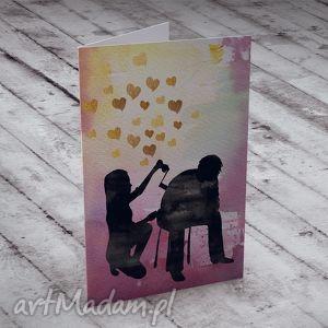 ręcznie zrobione kartki m. i.ł.o.ś.ć... kartka okolicznościowa