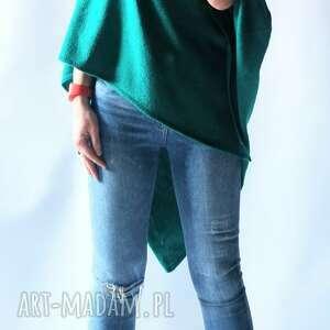 poncho ponczo klasyczne gładkie, ponczo, sweter, damskie, uniwersalne, puszyste