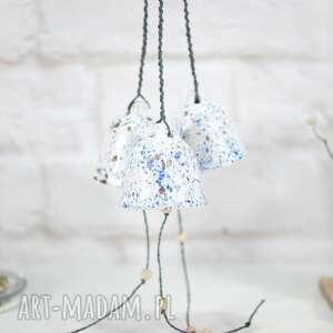 ceramiczny dzwonek - modern, dekoracje skandynawskie, białe dzwonki, dzwonki