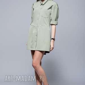 luźna sukienka h005 oliwka - sukienka, luźna sukienka, sukienka na lato, kobieca