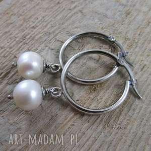 KOLCZYKI Z PERŁĄ VI, srebro, kolczyki, perła