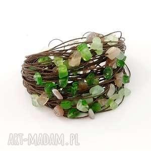 hand-made bransoletki bransoletka lniana agabe / stal szlachetna - len