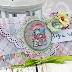 ręczne wykonanie scrapbooking kartki kartka z okazji narodzin- baby girl