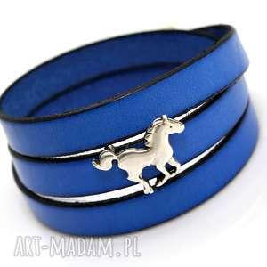 hand made bransoletki bransoletka skóra joyee triple horse ii blues