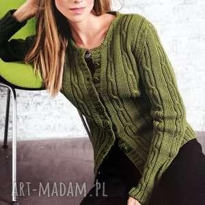 Prezent Sweter Annecy, sweter, prezent, dziergany, kobiecy, warkocze, wełniany