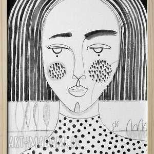 obraz 30x40 akryl na płótnie - twarz