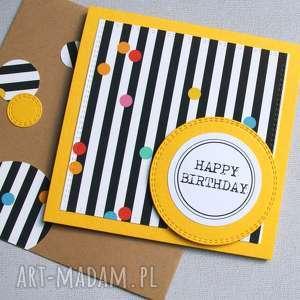 kartka urodzinowa confetti handmade, urodziny