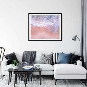 plakat skandynawski pink seaside, morze, plaża, plakat