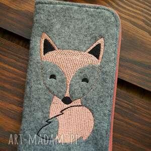 filcowe etui na telefon - lisek, smartfon, pokrowiec, fox, polski produkt