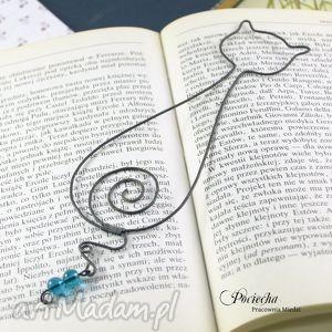 handmade zakładki kot maksymilian - zakładka do książki