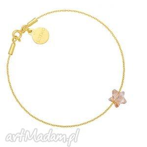 złota bransoletka ze złotą kryształową gwiazdką