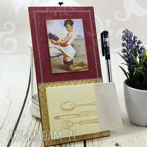 handmade scrapbooking notesy notes na lodówkę - pin up girl