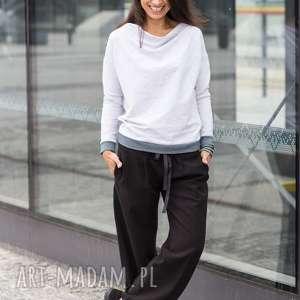 Szerokie spodnie wiązane w pasie nun mi spodnie, szerokie,