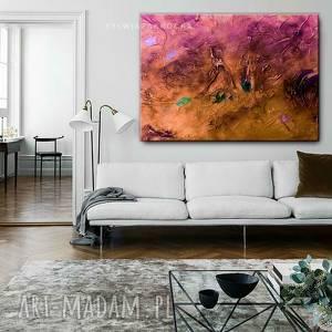 stylowe obrazy do salonu - pastelowy zachod, pastelowe kolory, abstrakcyjny obraz