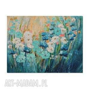 Polne kwiaty, łąka 9 obraz ręcznie malowany aleksandrab obraz