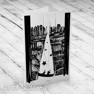 Ponad Miastem Zawieszeni... ślubna karteczka, ślub, kartka, okolicznościowe, życzenia
