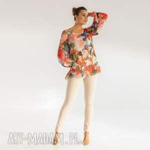 bluzki bluzka 1/ss/2021, kolorowa, kwiaty, szyfonowa, zwiewna, letnia, luźna
