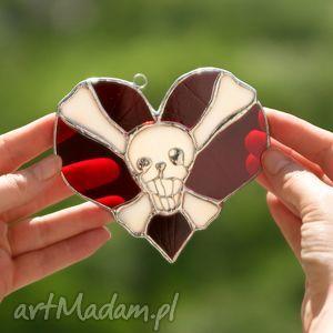 Witrażowe serce emo czacha witraże pi art serce, witraż