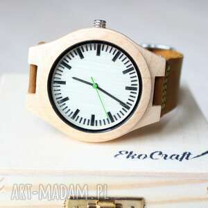 drewniany zegarek maple classic, zegarek, ekologiczny