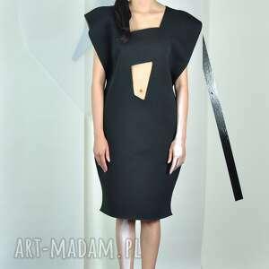 minas - sukienka, geometryczna, oryginalna, wycięcia, uroczysta, dzienna, unikatowa