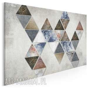 Obraz na płótnie - trójkąty loft 120x80 cm 57101 vaku dsgn