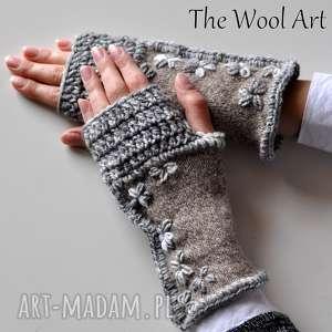 rękawiczki mitenki - rękawiczki, mitenki, nadłonie, prezent, kobiece