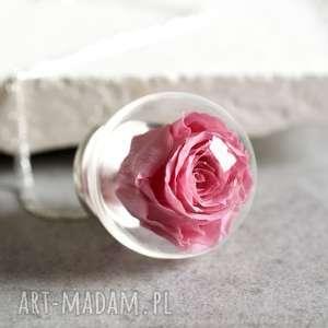 925 sterling róża naszyjnik część natury - róża, srebro