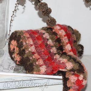 chustki i apaszki chusta w kolorach jesieni, szydełko, ciepła, lekka, moher