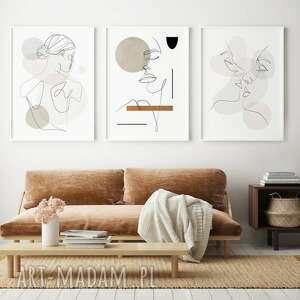 plakaty zestaw 3 plakatów boho b2 50x70 cm, obraz, plakat, salon, wnętrze