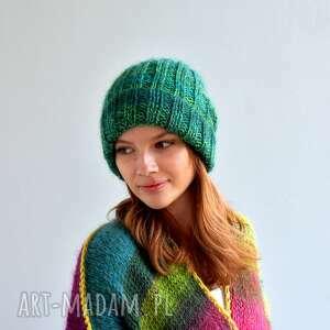 czapki lekka, ciepła czapka, ciepłaczapka, czapki, nagłowę, na drutach