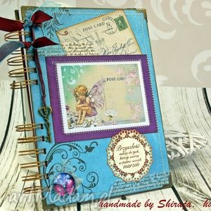 scrapbooking notesy notatnik/pamiętnik-kraina elfów, pamiętnik, notatnik, elfy, notes